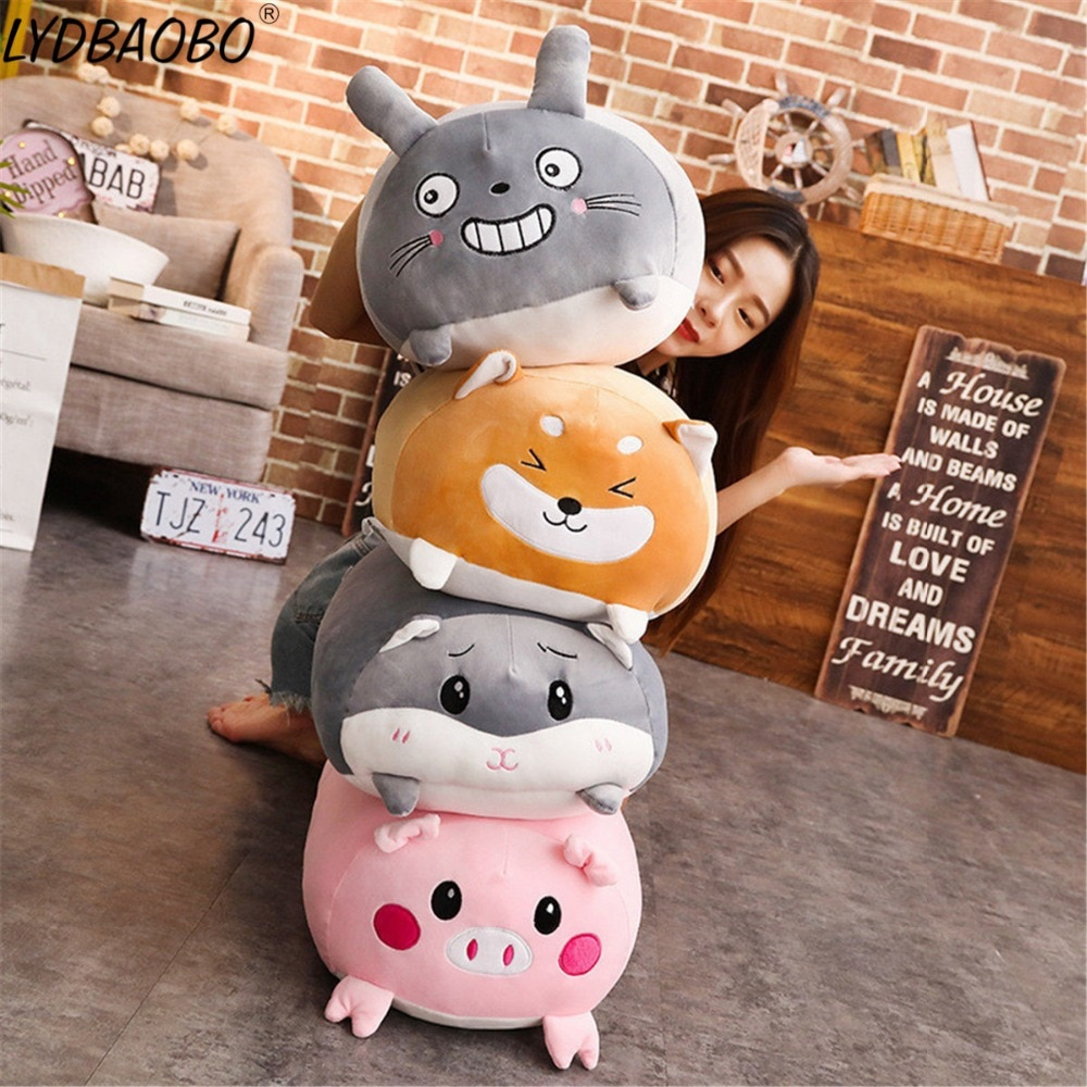 28cm Corner Bio Pillow Japanese Animation Stuffed Plush Baby Cute Cartoon Totoro/Corgi Animal Doll Toy Kid Valentine Gifts
