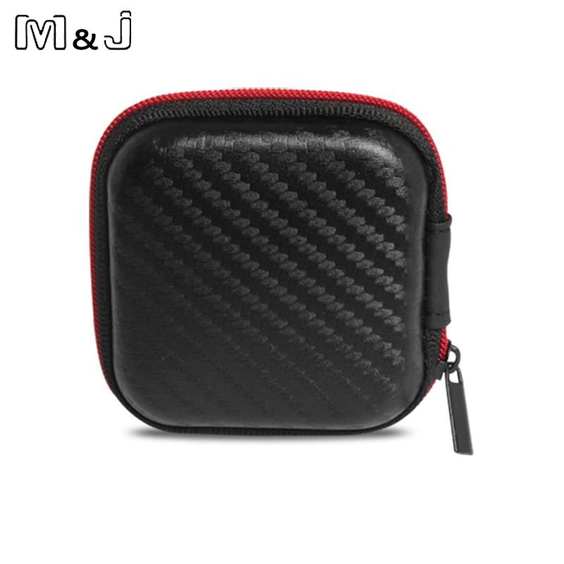 Accesorios para auriculares de gama alta M & J bolsa estuche para auriculares estuche de almacenamiento portátil bolsa accesorios para auriculares envío gratis