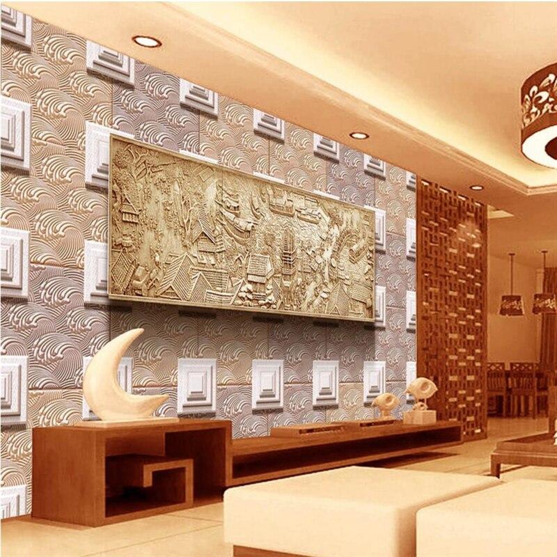 Beibehang frescoes personalizados de cualquier tamaño de alta calidad limpiar el mapa del río de relieve tridimensional sala de estar pared de fondo de sala
