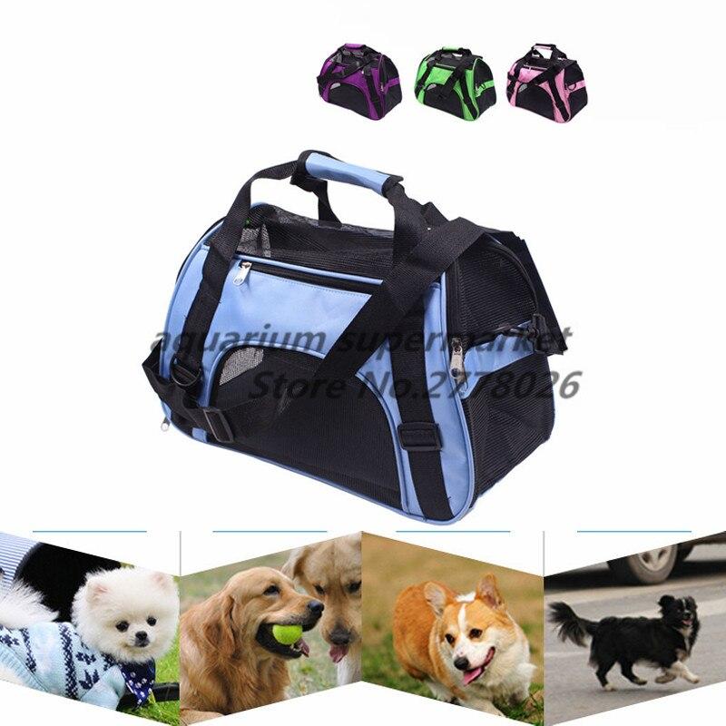 Маленькая переноска для домашних животных для собак, кошек, дорожная сумка, складная переносная клетка, складная сумка-тоут, переносные инс...