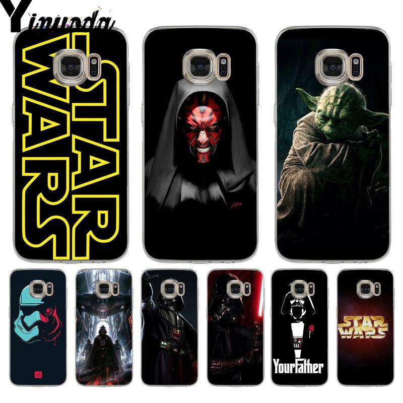 Yinuoda star wars y bb8 dibujo cubierta de teléfono de TPU suave para samsung galaxy S9 S7 S6 edge plus S5 S9 S8 plus Nota 9