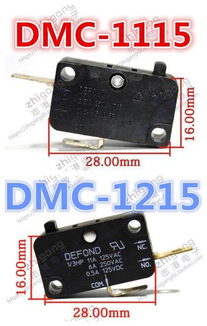 Micro interruptor DMC-1115 15A, DMC-1215 11A panela de arroz de alta corrente, forno de microondas, interruptor de limite