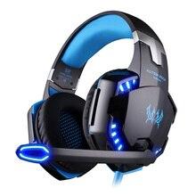 KOTION EACH G2200 Professional Gaming Headphone Stereo Headband Game Headsets PC Gamer USB7.1 Vibration Breathing LED Light Mic
