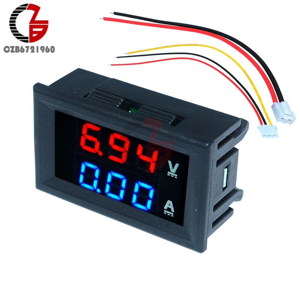 Voltímetro digital com led de 0.56 polegadas, amperímetro, dc 100v 10a, medidor de voltagem, carregador usb, médico, carro, motocicleta, voltímetro, detector de amp