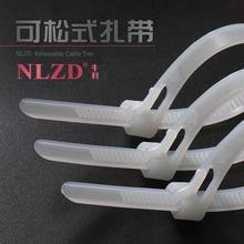 Herbruikbare nylon kabelbinders netwerk draad organisator losmaakbare Plastic Zip Tie wrap Strap 6 inch 8/10/12 /14/16/18 inch lengte