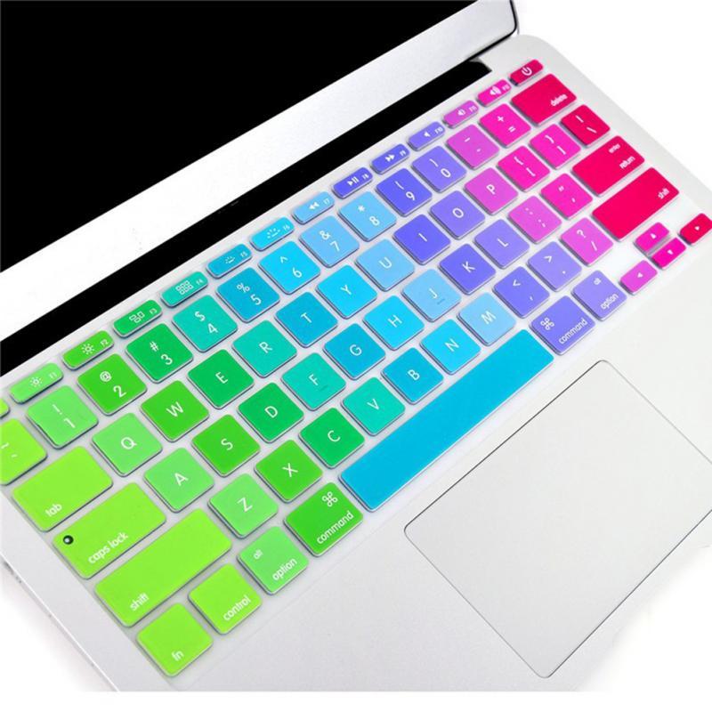 Для Apple Pro 13 15 дюймов Air 13 Retina 13 Силиконовая Клавиатура США защита кожи цветок наклейка Радуга Клавиатура Чехол