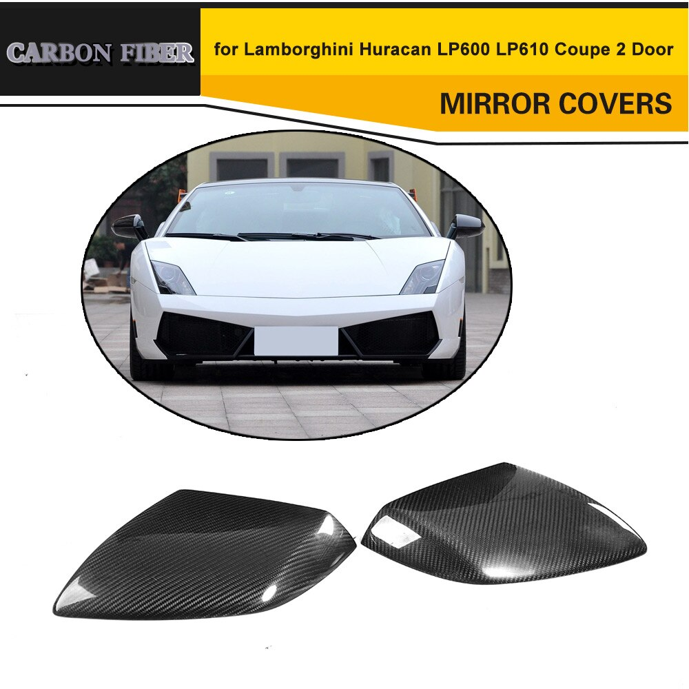 Cubierta de espejo retrovisor de fibra de carbono funda de ajuste para lamlegghini Huracan ip600 ip610 Coupe 2 puertas LHD agregar en estilo