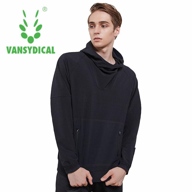 Спортивные толстовки Vansydical Осень зима мужские топы для фитнеса и бега