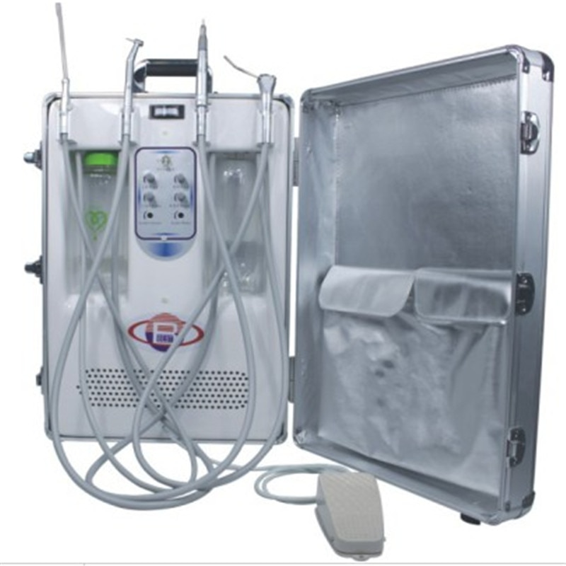 Portable Dental Unit Dental Instrument With CE Portable Treatment Unit With Oiless Air Compressor