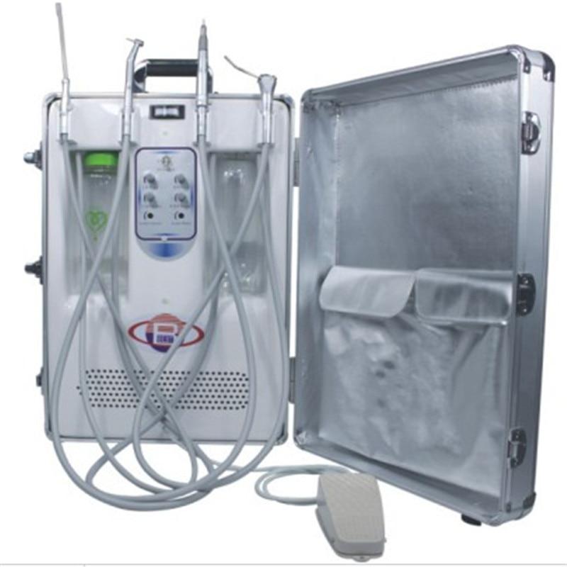 وحدة علاج أسنان محمولة, مزودة بضاغط هواء عديم الزيت ، متوافقة مع CE