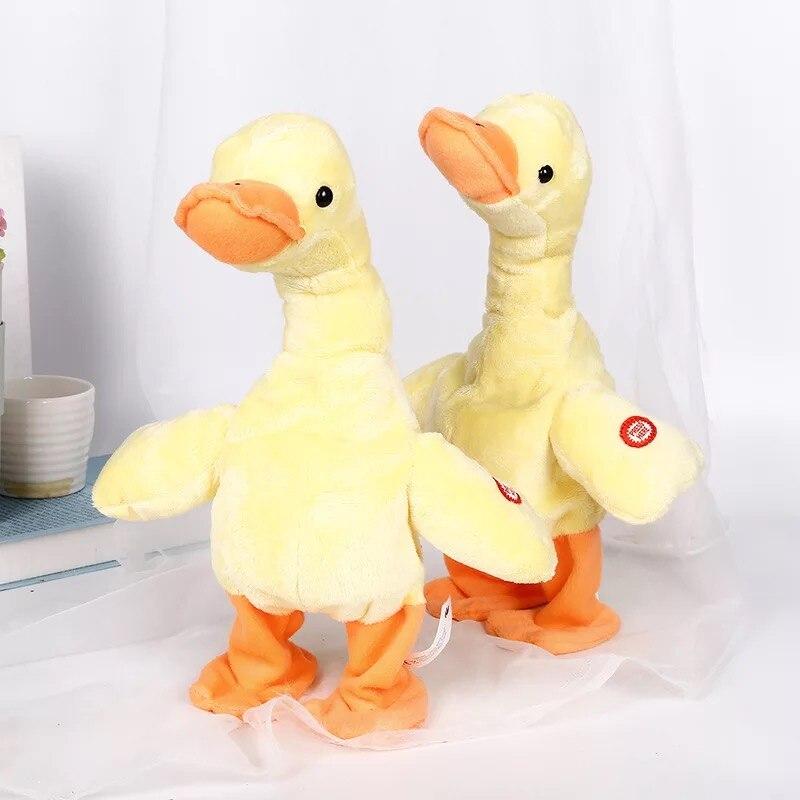 Pato eléctrico de peluche de juguete Sing Dancing Animal de peluche interactivo divertido pato de peluche juguetes regalos de cumpleaños para bebé y niños