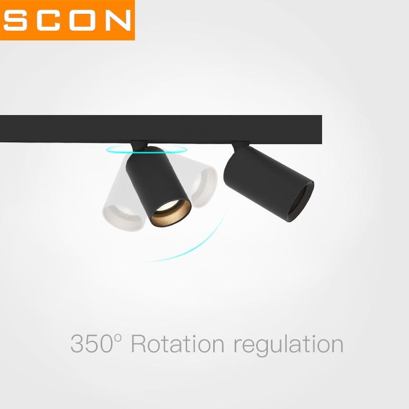SCON-متجر ملابس للاستوديو ، تصميم داخلي ، دوار 350 درجة ، قناة مغناطيسية ، تركيبات إضاءة ، مسار إضاءة