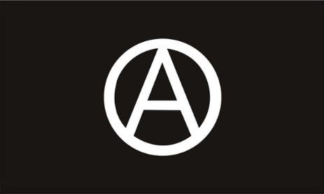 Bandera de anarquista, anarquista, blanca y negra, 150X90CM