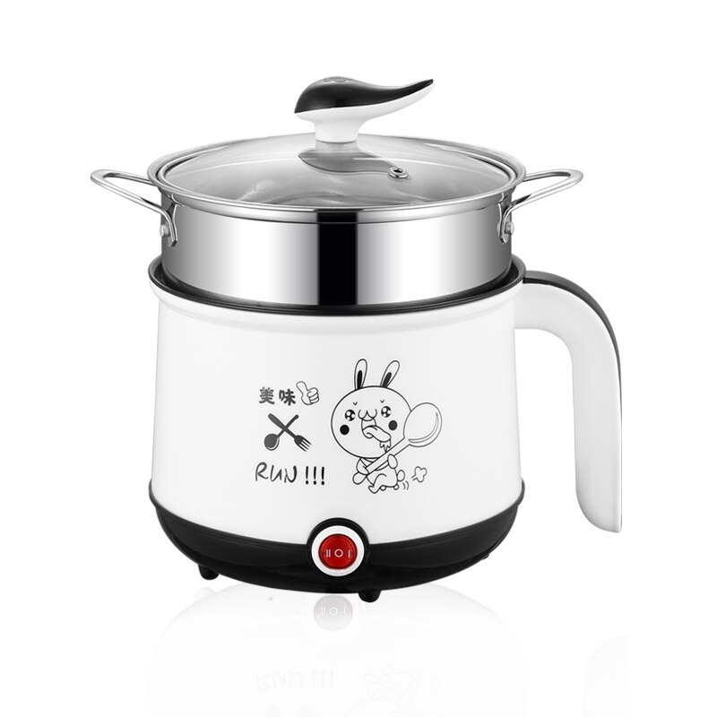Mini olla de Cocina eléctrica portátil de 220V sola/doble capa disponible en 3 colores olla caliente Multi Cocina