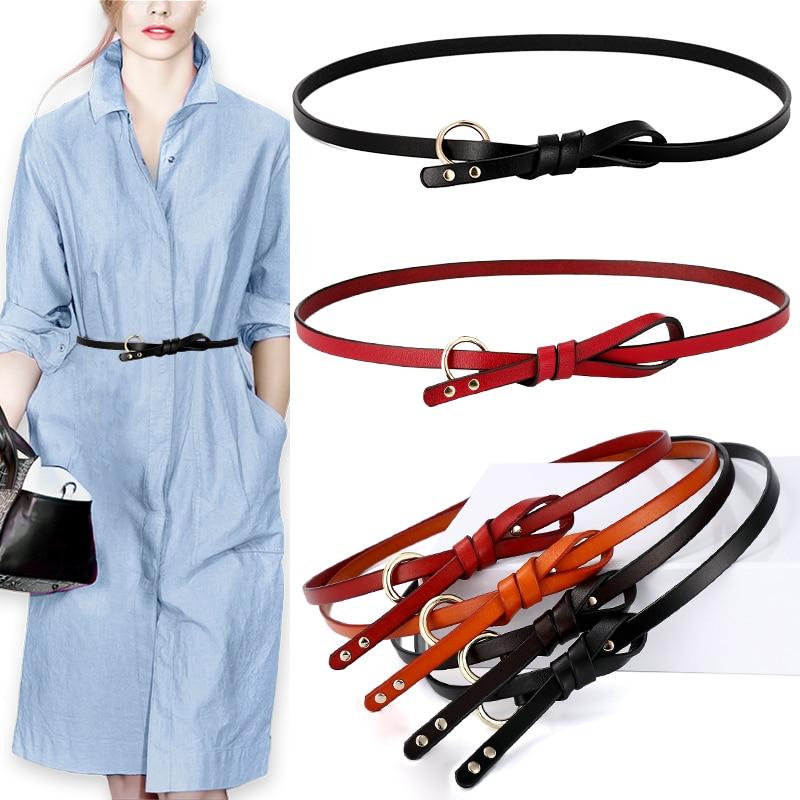 Ceintures en cuir véritable pour femmes   Nouveau Design, ceinture à la taille élancée pour femmes, ceinture en cuir véritable décontractée, ceinture en cuir de vache pour jupes, robe pour filles
