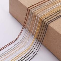 5 м/лот 1,3-2,5 мм Золотая родиевая медная цепочка для изготовления ювелирных изделий своими руками аксессуары для ювелирных изделий