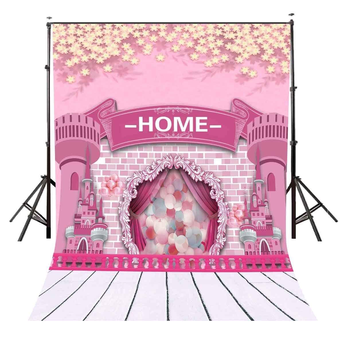 150x220 см мультфильм детский замок фон для фотосъемки милениал розовый дом