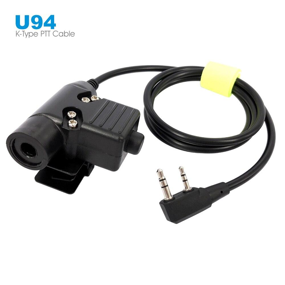 Cable conector U94 PTT para Airsoft Z, auricular táctico de Radio para Kenwood BaoFeng, Walkie Talkie, auriculares de combate Z113