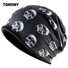 TQMSMY Fashion Skull Pattern Hats For Men Winter Warm Skullies Beanies Women Thick Ski Caps Unisex Hip Hop Punk Cool Bone Gorros
