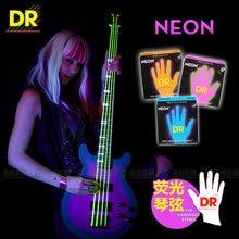 Cordes DR NEON hi-def 4 cordes basse supercordes corde de guitare basse, Lite 40-100 ou Medium 45-105