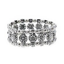 LOVBEAFAS soleil fleur mode réglable Bracelets Bracelets Femme Vintage ethnique gitane Bracelet pour femmes bijoux