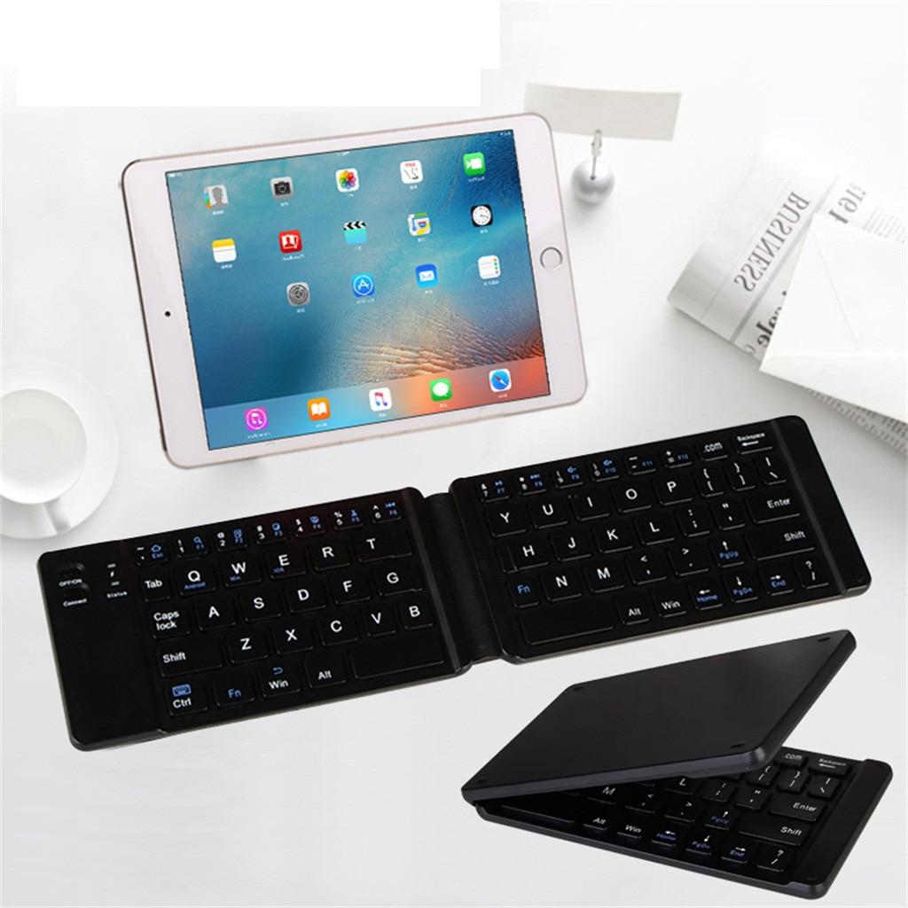 35 @ r4 rolo dobrável teclado bluetooth sem fio 64 teclas teclado dobrável para tablet iphone portátil smartphones ipad presentes