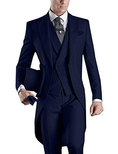 2020 traje largo hecho a medida para hombres, Masculino esmoquin de 4 colores (chaqueta + Pantalones + chaleco + corbata), hecho a medida, esmoquin ajustado de verano Traje De Hombre de la mañana