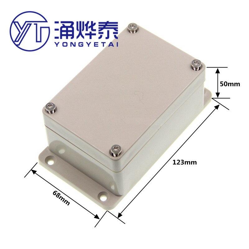 Пластиковый корпус для литиевой батареи, измерительная коробка, водонепроницаемый распределительный терминал, шасси 123*68*50, бесплатная доставка