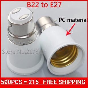Hot sale b22 to E27socket  Lamp holder Adapter,light holder Adapter,Bulb holder Adapter b22 turns E27  500PCS
