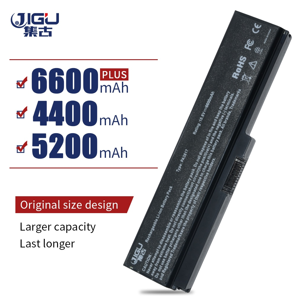 Batería JIGU para TOSHIBA Satellite L750 L650 Series PA3816U-1BRS PA3817U-1BAS PA3817U-1BRS PA3818U-1BRS