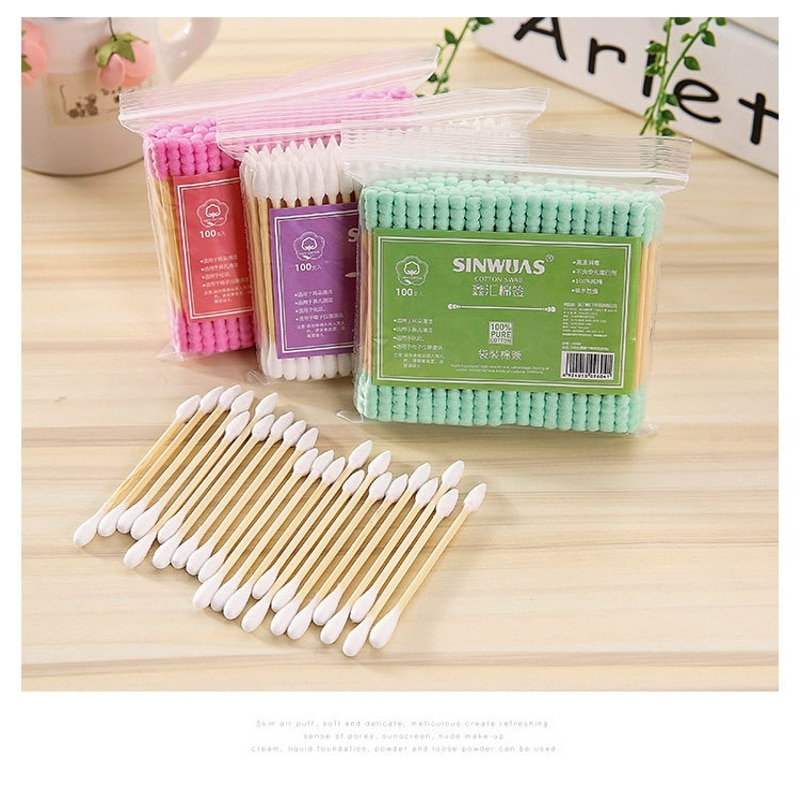 Детские маленькие палочки, уши, ватные палочки, средство для снятия макияжа, ватные палочки, одноразовые двухсторонние ватные палочки 2476