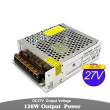 Transformateur de conducteur Variable de lalimentation dénergie de commutation de cc 27V 4.4A 120W AC100-240V AC-DC 27V SMPS pour le moteur déquipement de Communication