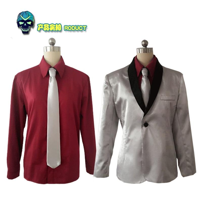 Batman Suicide Squad Joker Cosplay Costume Suit Men Clown Jared Leto Silver Coat Psychos Killers Suit Halloween Coaplay Costumes