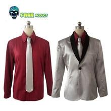 Batman escouade Suicide Joker Cosplay Costume hommes Clown Jared Leto argent manteau Psychos tueurs Costume Halloween Coaplay Costumes