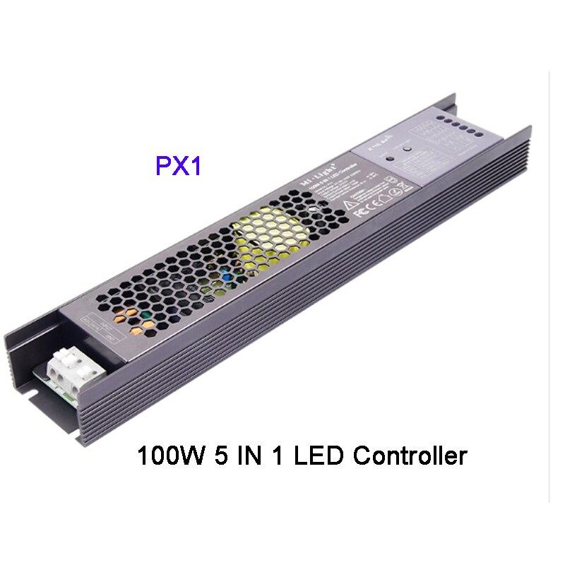 Controlador LED Miboxer PX1 100W 5 en 1 2,4G RF/APP/controlador de controlador integrado de voz alexa para tira de luces LED DC24V
