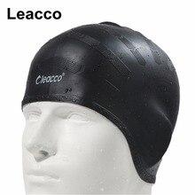 Homme femmes haute spandex grande taille vêtements de natation chapeau adultes étanche natation casquettes silicone natation chapeau protéger les oreilles