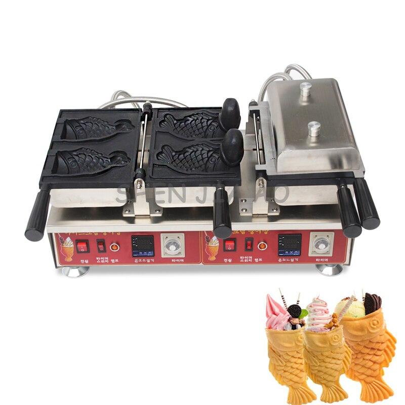 Pantalla Digital eléctrica calor abierto snapper pescado máquina de quema de helado comercial máquina de pan snapper 110/220 V 3200 W