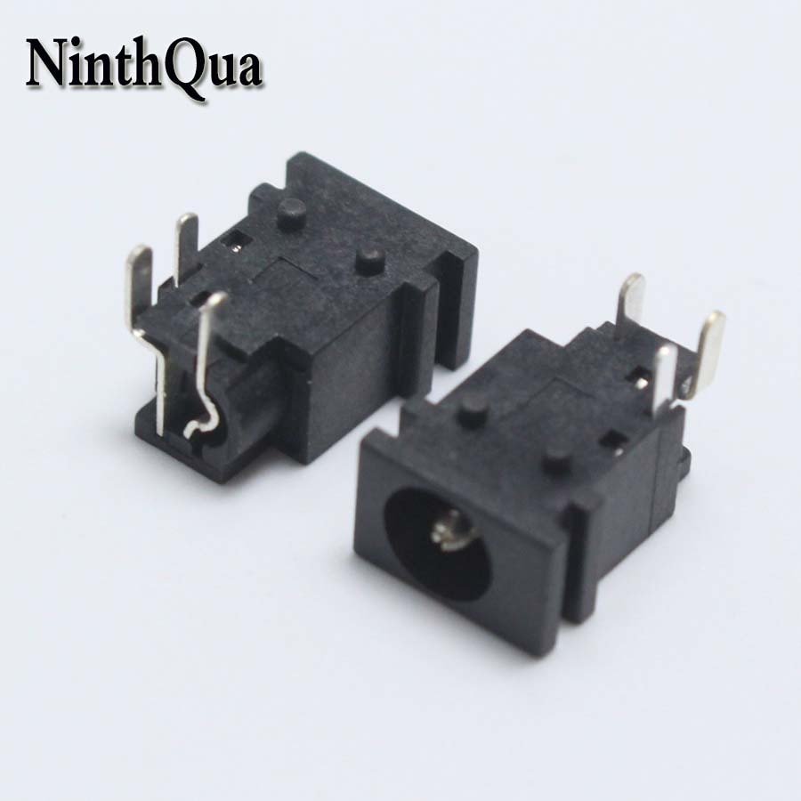 5 uds 5,2*1,65mm DC Power jack conector de interruptor 5,2mm * 1,65mm 0.5A 30V 3Pin DIP Audio Panel zócalo de montaje para TV LCP PC ect