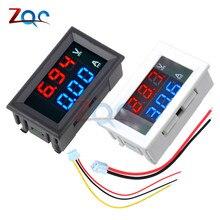 De doble LED pantalla Mini Digital voltímetro amperímetro DC 100V 10A Amp de Panel medidor de corriente de voltaje de coche de la motocicleta de calibre