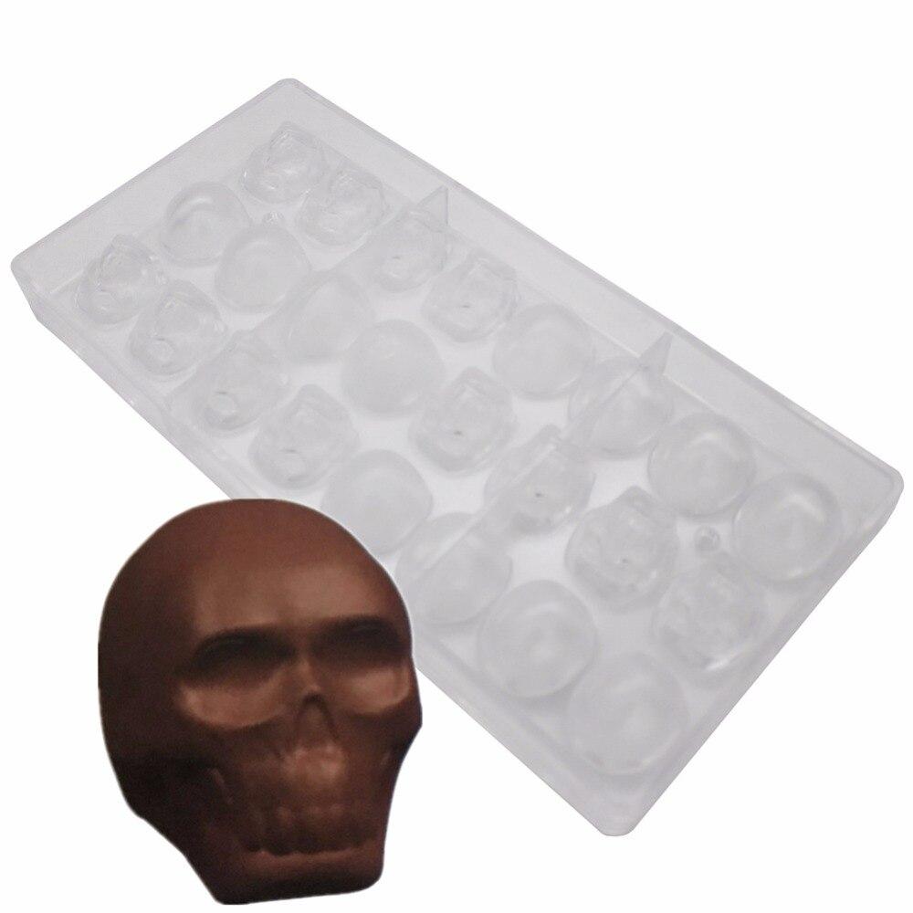 قالب حلوى للشكولاتة, قالب من البولي كربونات 3D الجمجمة هالوين