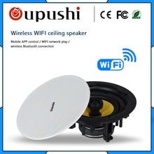 Oupush wifi haut-parleur de plafond 20-60 W haut-parleur intégré de haute qualité haut-parleur de fond à la maison utilisation pour différents systèmes publics