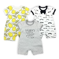 3pcs1lot new baby rompers newborn infant baby boy girl summer clothes cute cartoon printed romper jumpsuit climbing clothes