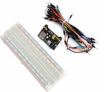 MB102 platine de prototypage Module dalimentation 3.3v 5v platine de prototypage sans soudure 830 Points pour Arduino platine de prototypage câble de raccordement bricolage électronique