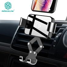 NILLKIN الجاذبية سيارة الهاتف جبل الأيدي الحرة السيارات قفل واحد اليد الهواء تنفيس مهد السيارات الإفراج عن فون XS ل xiaomi لسامسونج