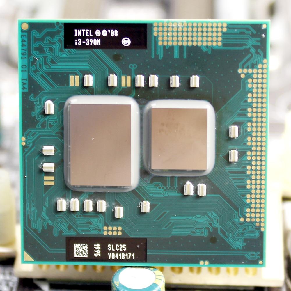 Процессор Intel core I3 390M i3-390M 3M Cache 2,66 ГГц Socket G1 для ноутбука, ноутбука, бесплатная доставка