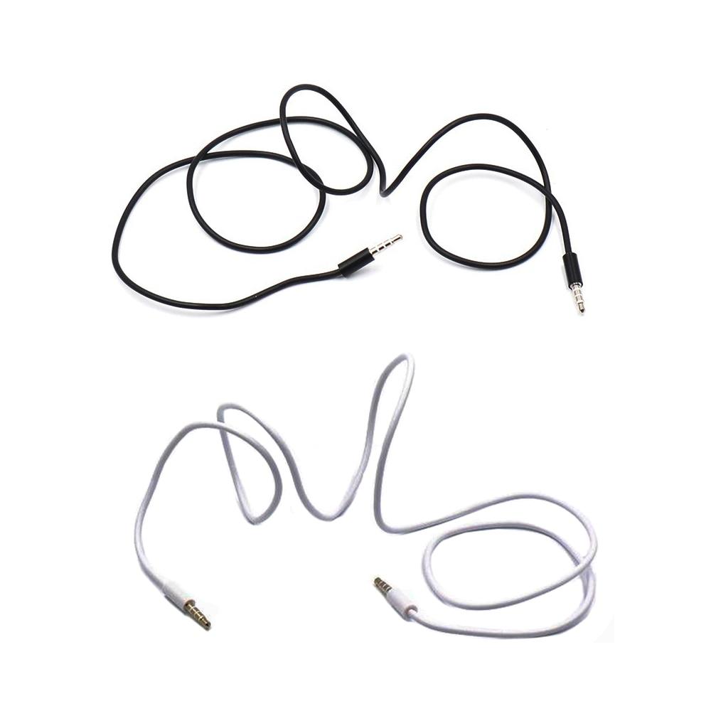Автомобильный MP3 3,5 мм 4-полюсный разъем на 3,5 мм разъем для наушников AUX аудио кабель вспомогательный шнур стерео аудио провод основной кабел...