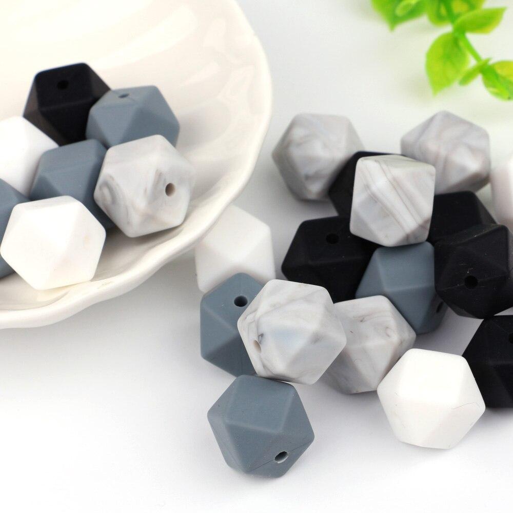 TYRY. HU 10 stücke Silikon Perlen 14mm Baby Zahnen Beißring Bead Lebensmittelqualität Pflege Silikon Baby Spielzeug DIY Schnuller Zubehör perle