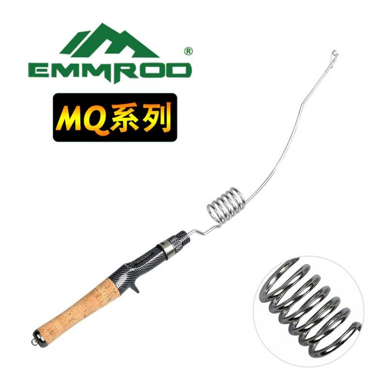 EMMROD Bait Casting Fishing Rod 57cm 200g CorkWood Handle Stainless Steel Portable short Personality fishing rod MQ enlarge