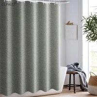 clpaizi imitation linen bathroom shower curtain free punching waterproof mildew thickening bath curtain 120 wide 180 high d30
