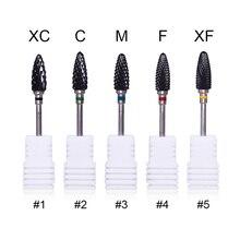 1 Pc noir tête ongles forets Machine lime à ongles outil XC C F XF Multi taille électrique ponceuse Nail Art outil de remplacement
